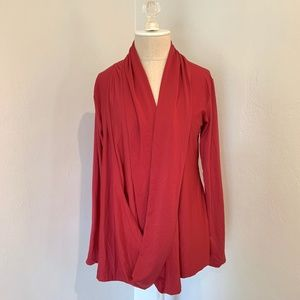 NWT Red Wrap Front Blouse Top